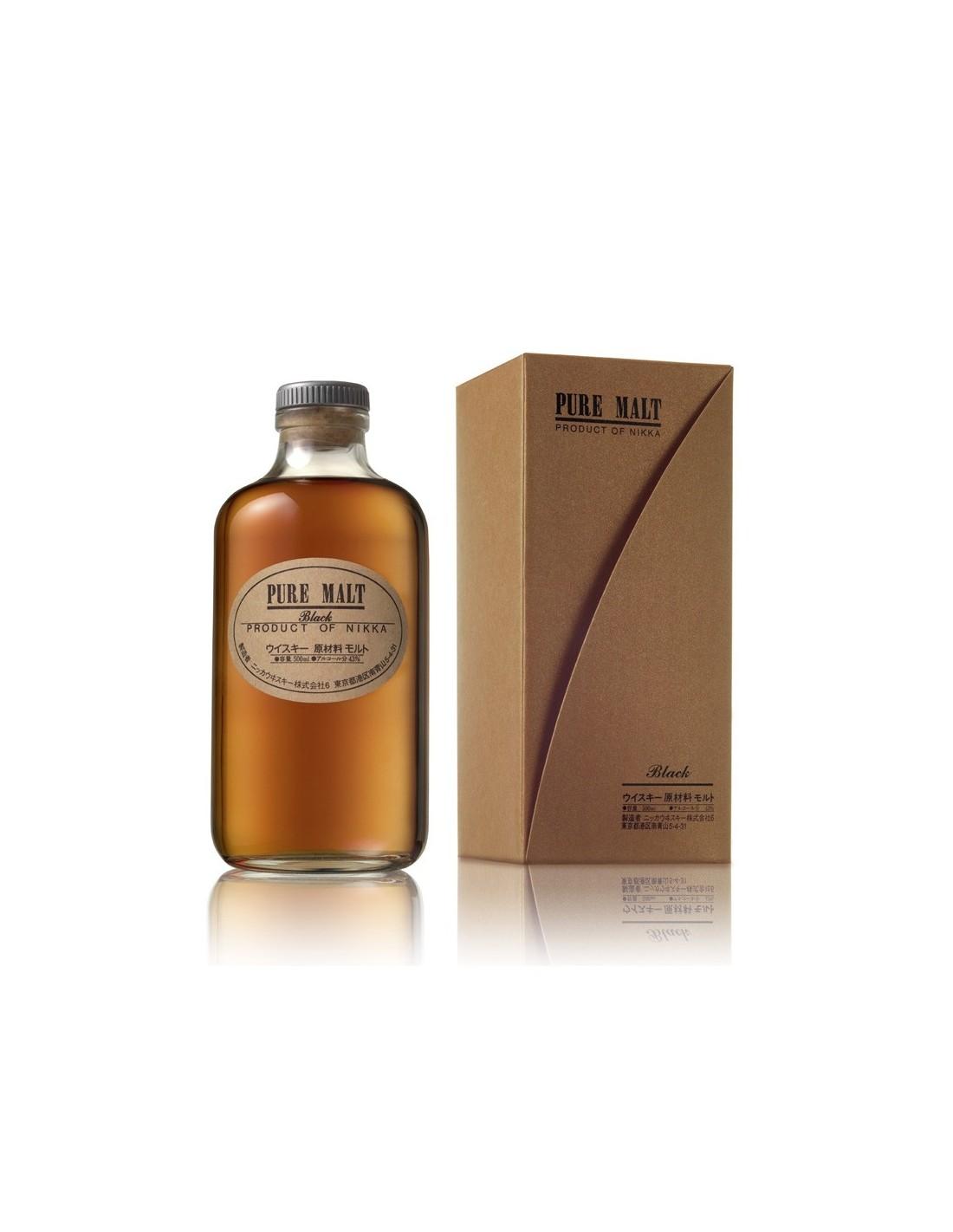 Whisky Nikka Pure Malt Black, 43% alc., 0.5L, Japonia