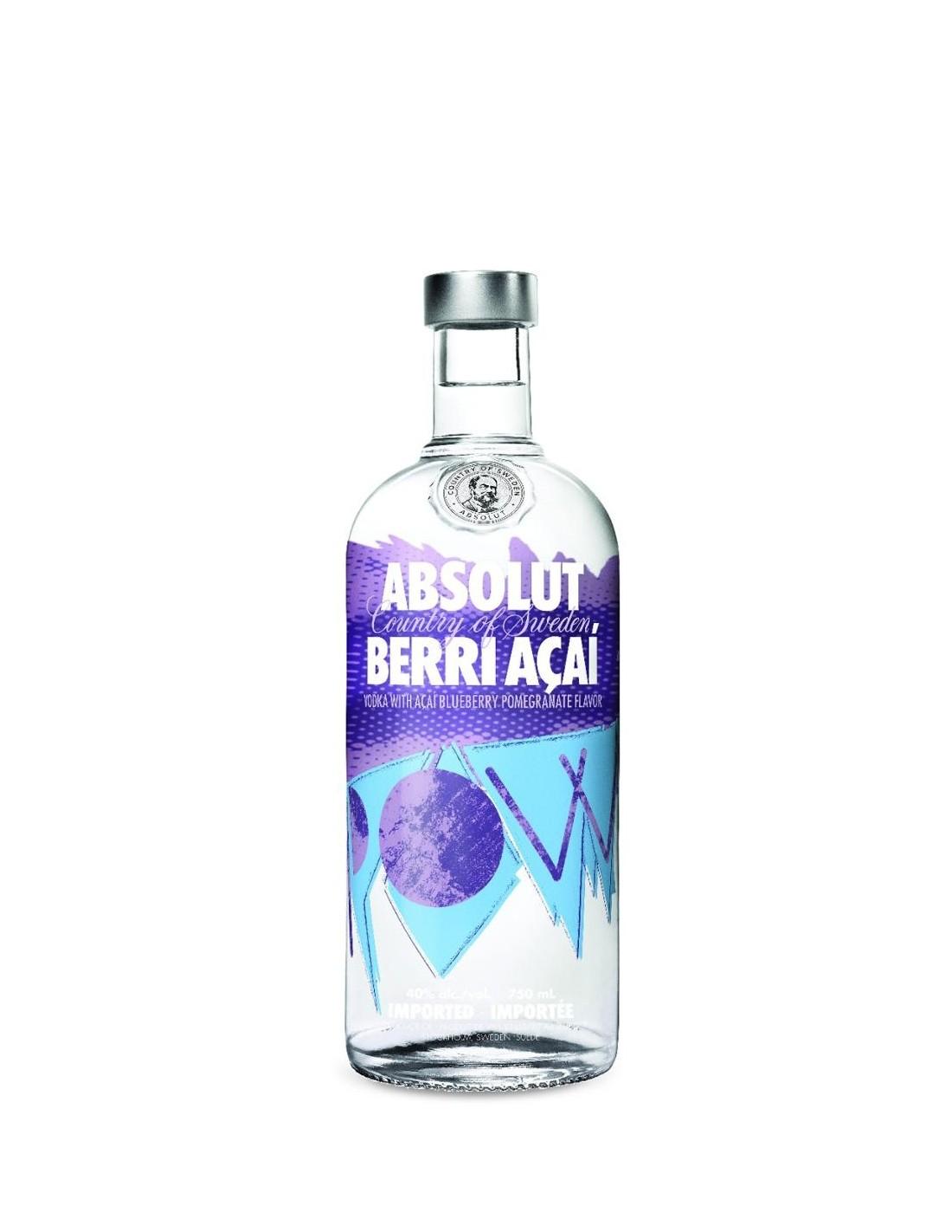 Vodca Absolut Berry Acai 1L, 40% alc., Suedia