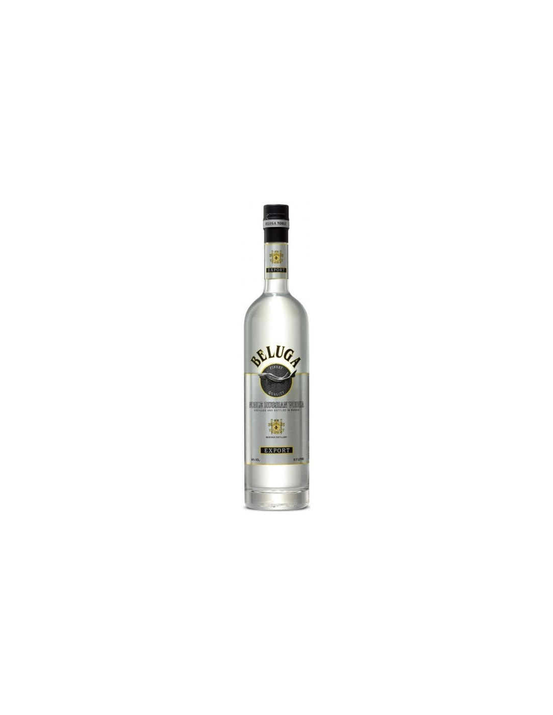 Vodca Beluga 0.7L, 40% alc., Rusia