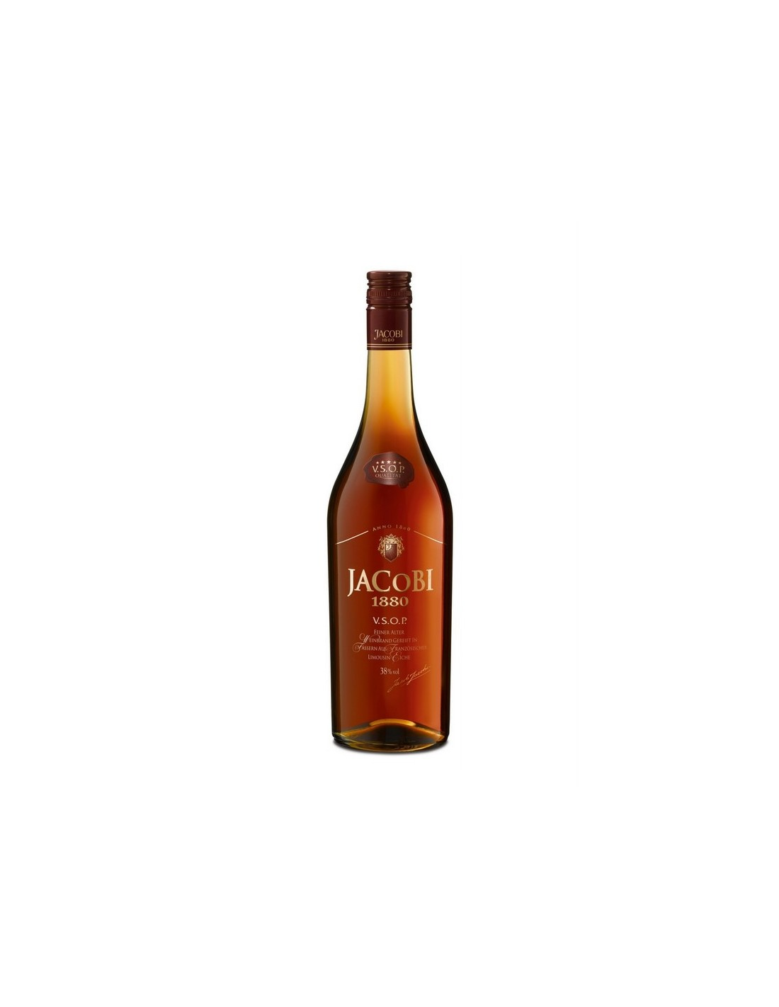 Coniac Brandy Jacobi 1880 VSOP, 38% alc., 0.7L, Germania