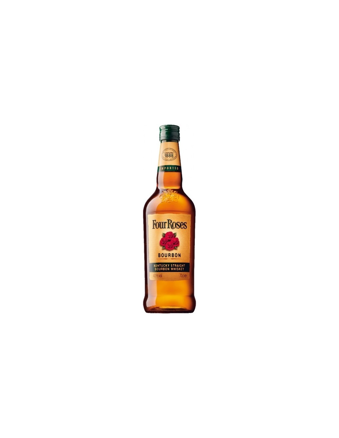 Whisky Single Malt Bourbon Four Roses, 40% alc., 0.7L