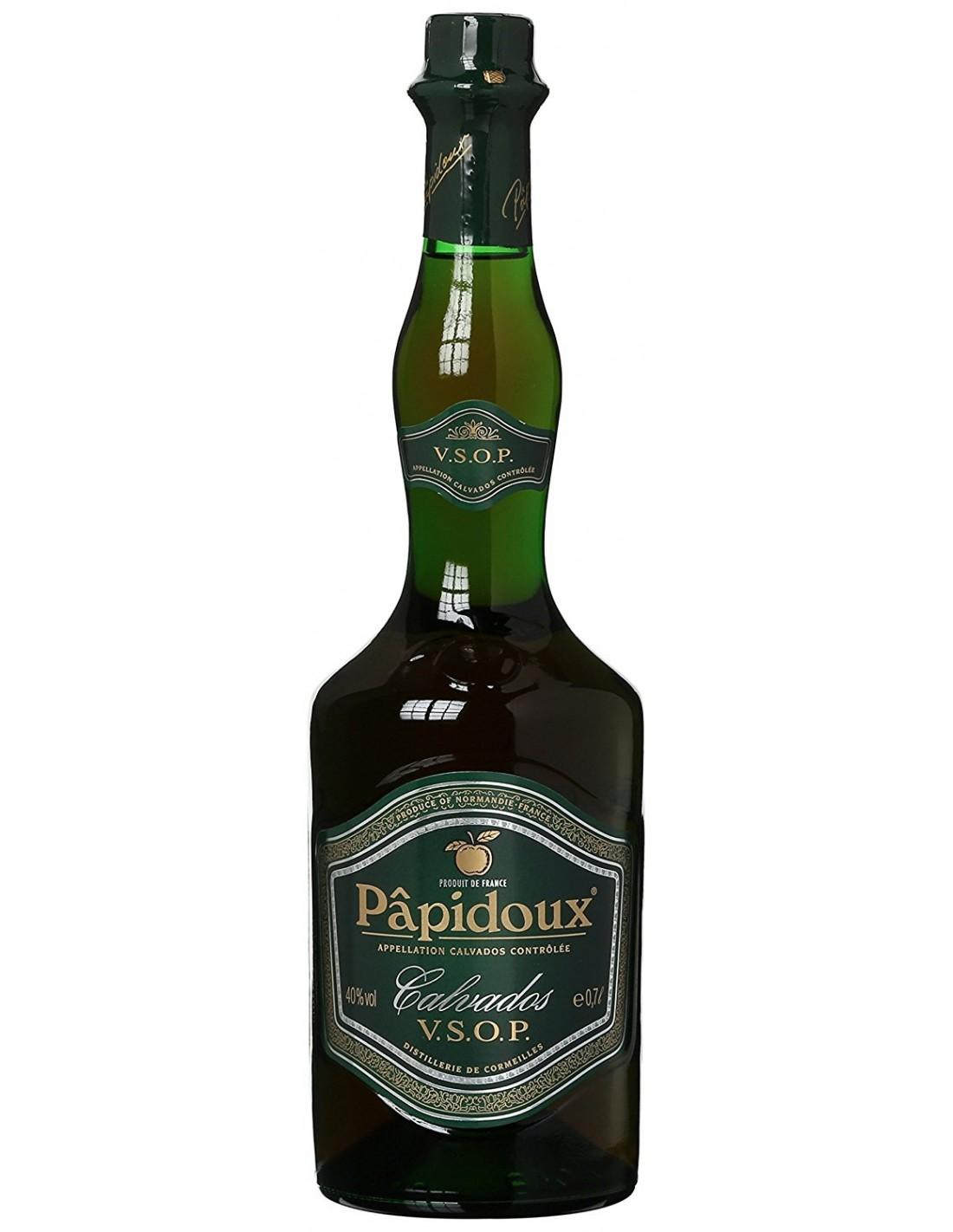 Brandy Calvados Papidoux VSOP 40% alc., 0.7L, Franta