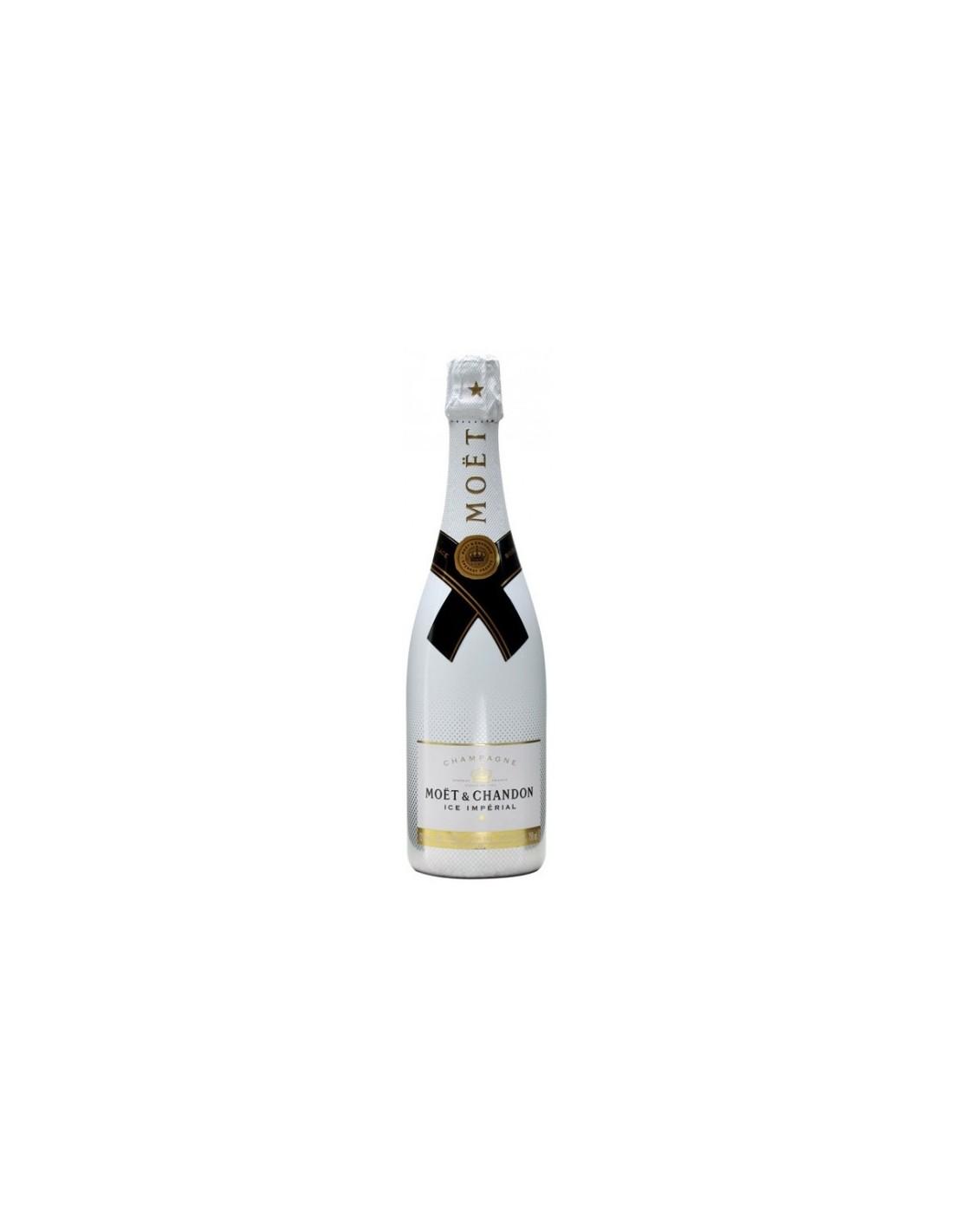 Sampanie demisec, Moët & Chandon Ice Imperial Champagne, 0.75L, 12% alc., Franta
