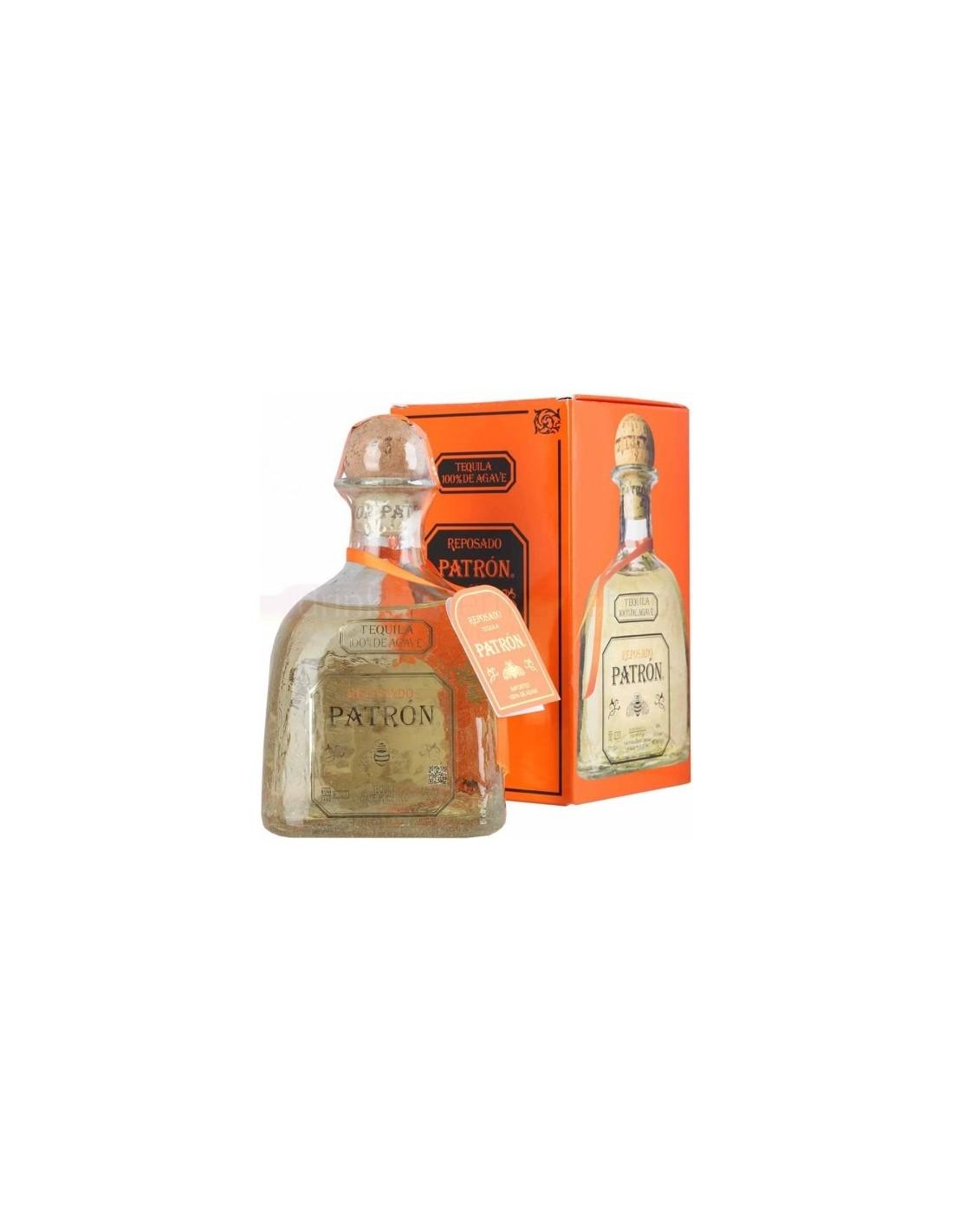 Tequila Patron Reposado 0.7L, 40% alc., Mexic