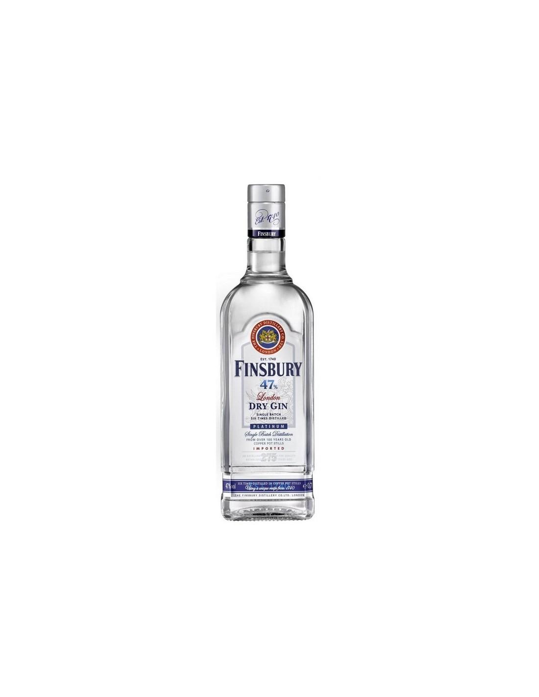 Gin Finsbury 47 Platinum 47% alc., 0.7L, Marea Britanie