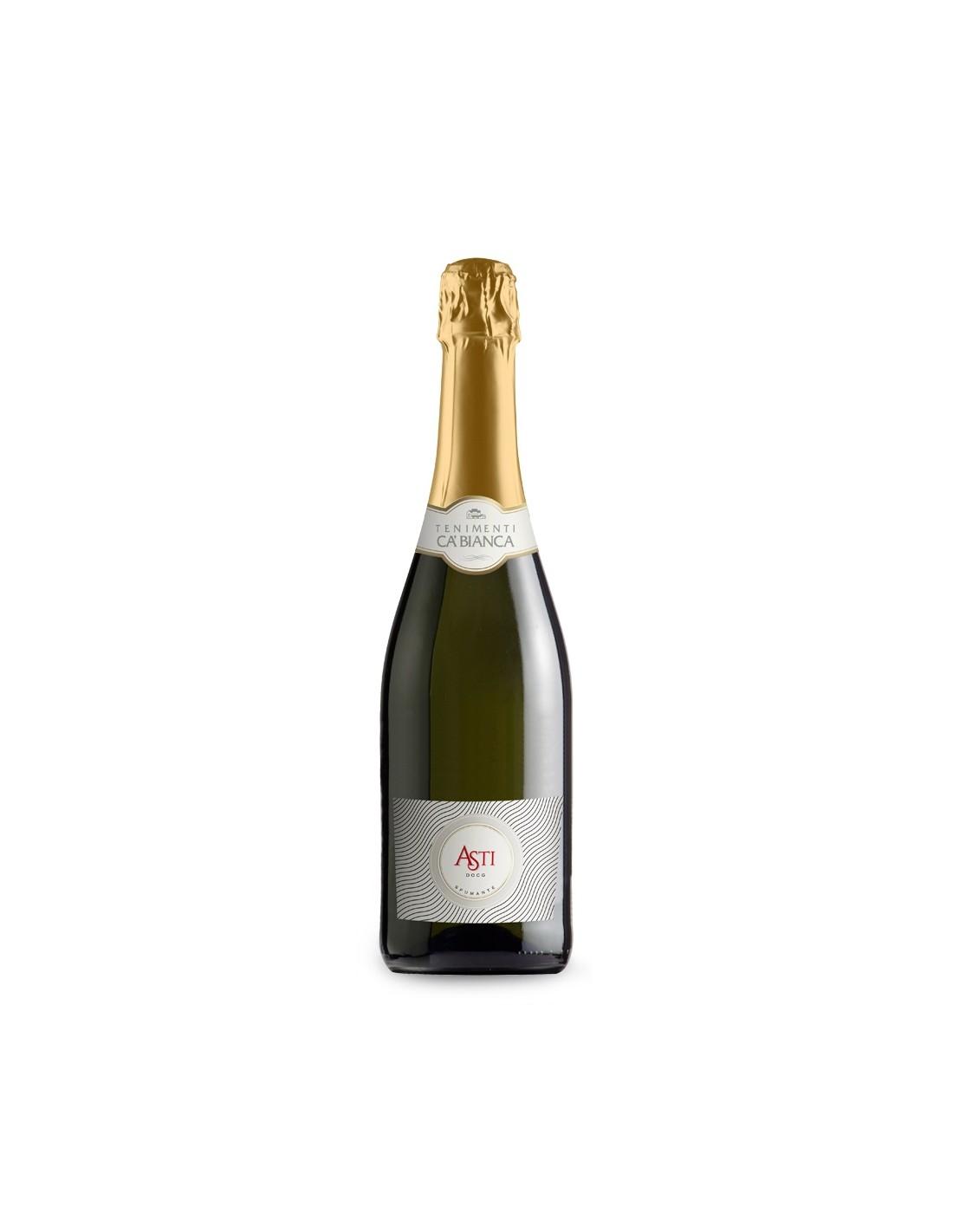 Vin spumant, Tenimenti Ca'Bianca Asti, 0.75L, 12% alc., Italia