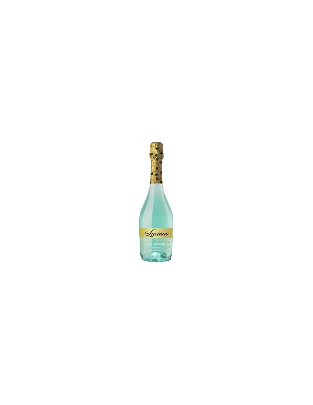 Vin spumant blue Blue Moscato, Don Luciano La Mancha, 0.75L, 12% alc., Spania