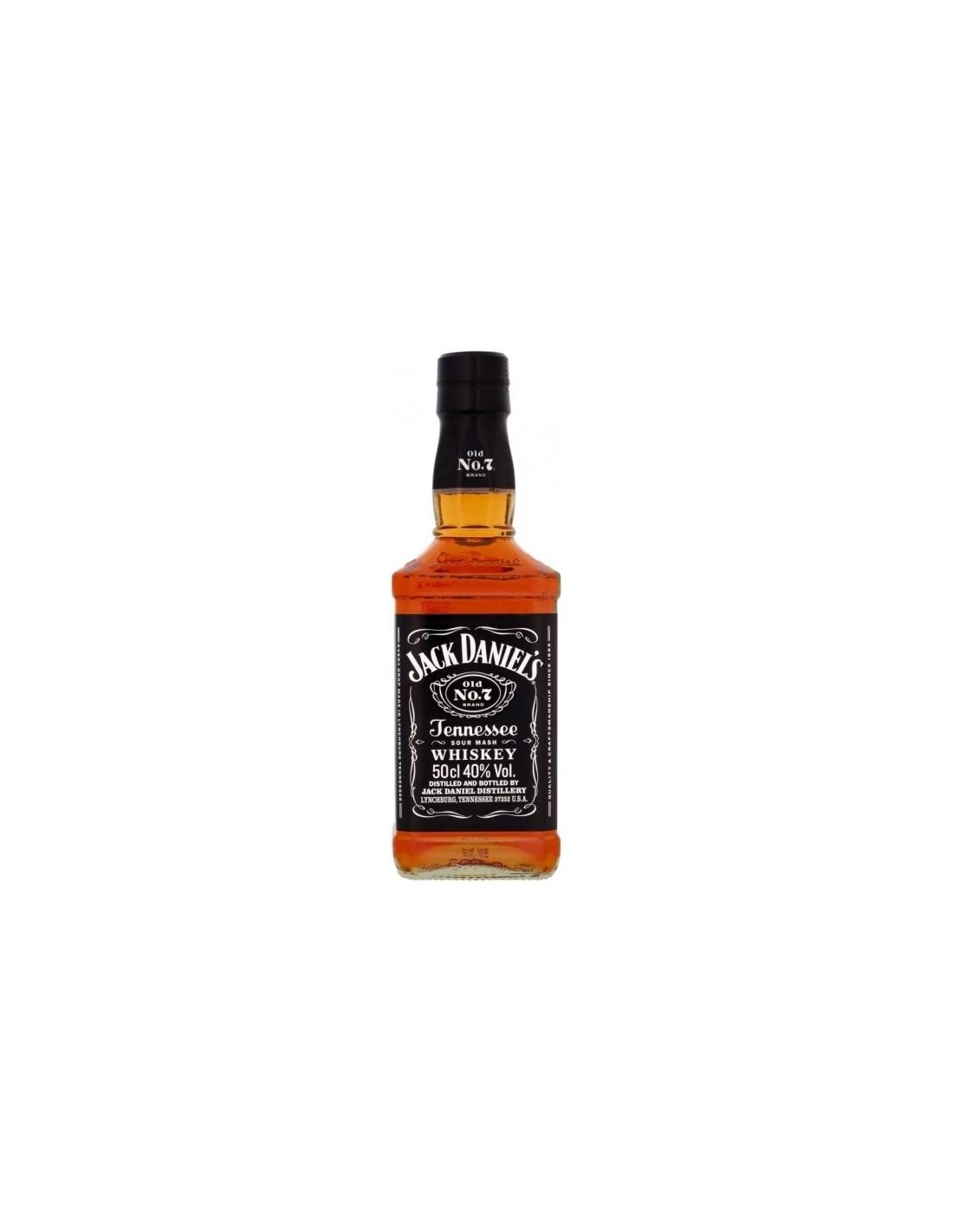 Whisky Bourbon Jack Daniel's, 40% alc., 0.5L, America