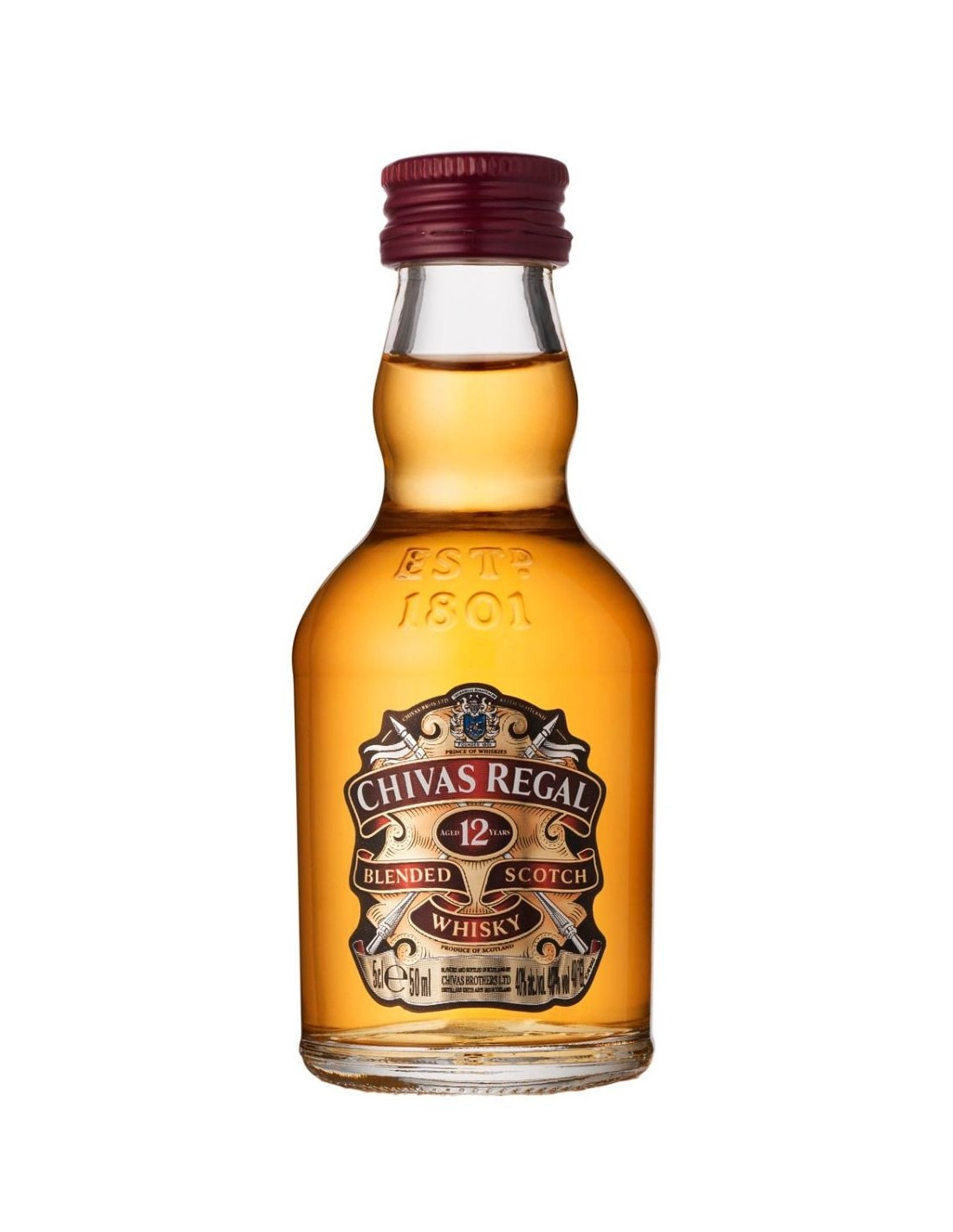 Whisky Chivas Regal, 12 ani, 40% alc., 0.05L, Scotia