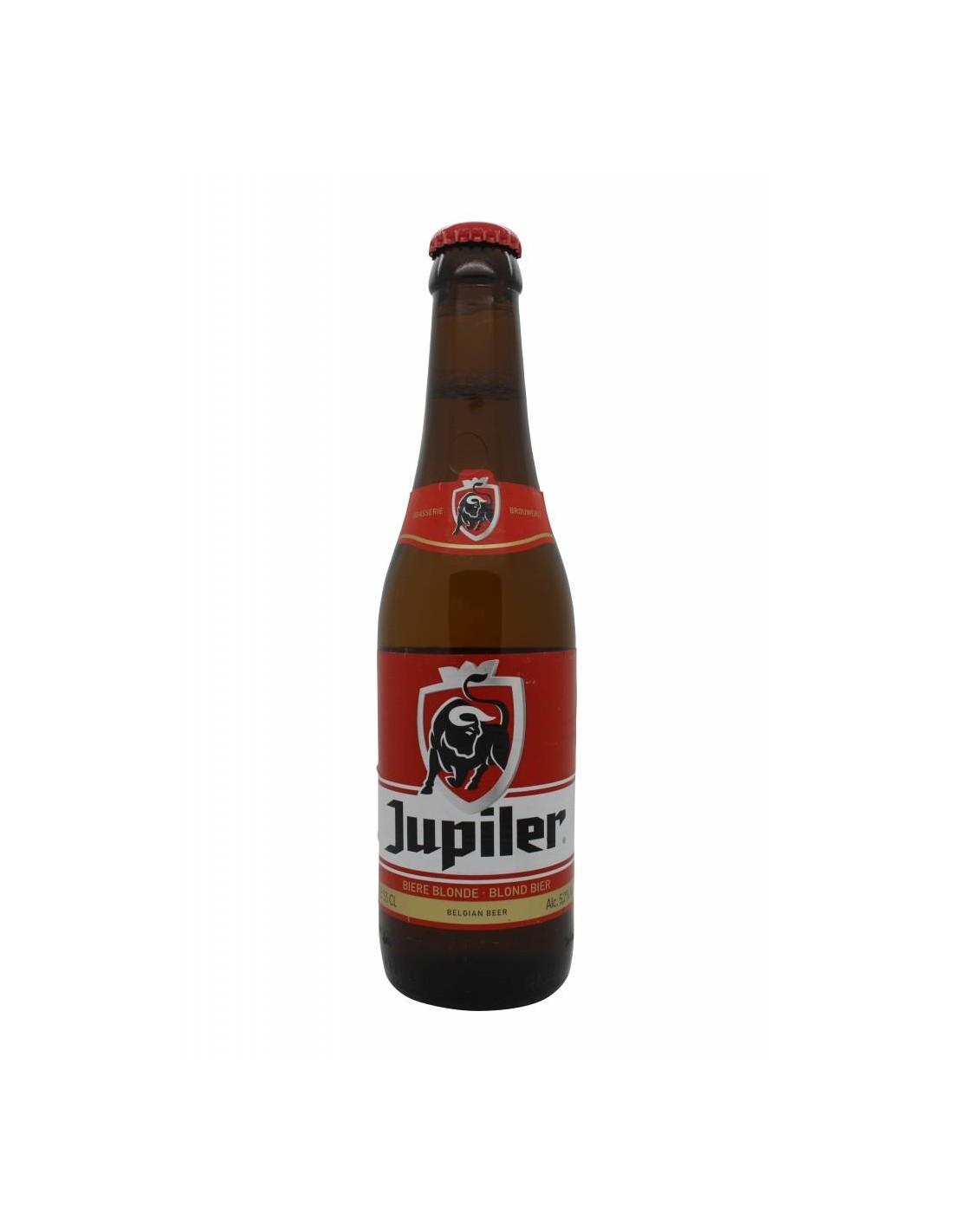 Bere blonda Jupiler, 5.2% alc., 0.33L, Belgia