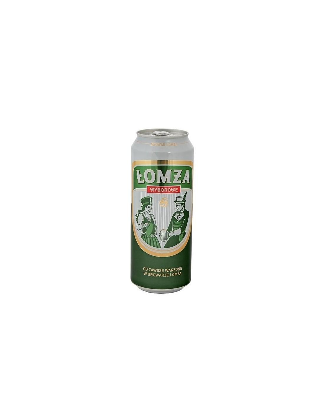 Bere blonda Lomza Wyborowe, 6% alc., 0.5L, Polonia