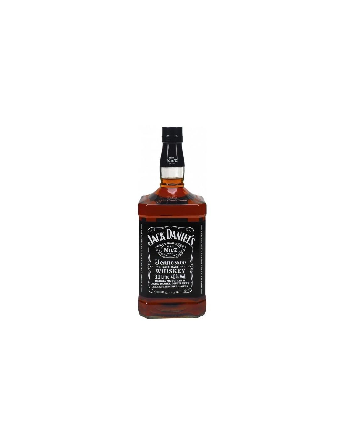 Whisky Bourbon Jack Daniel's, 40% alc., 3L, America