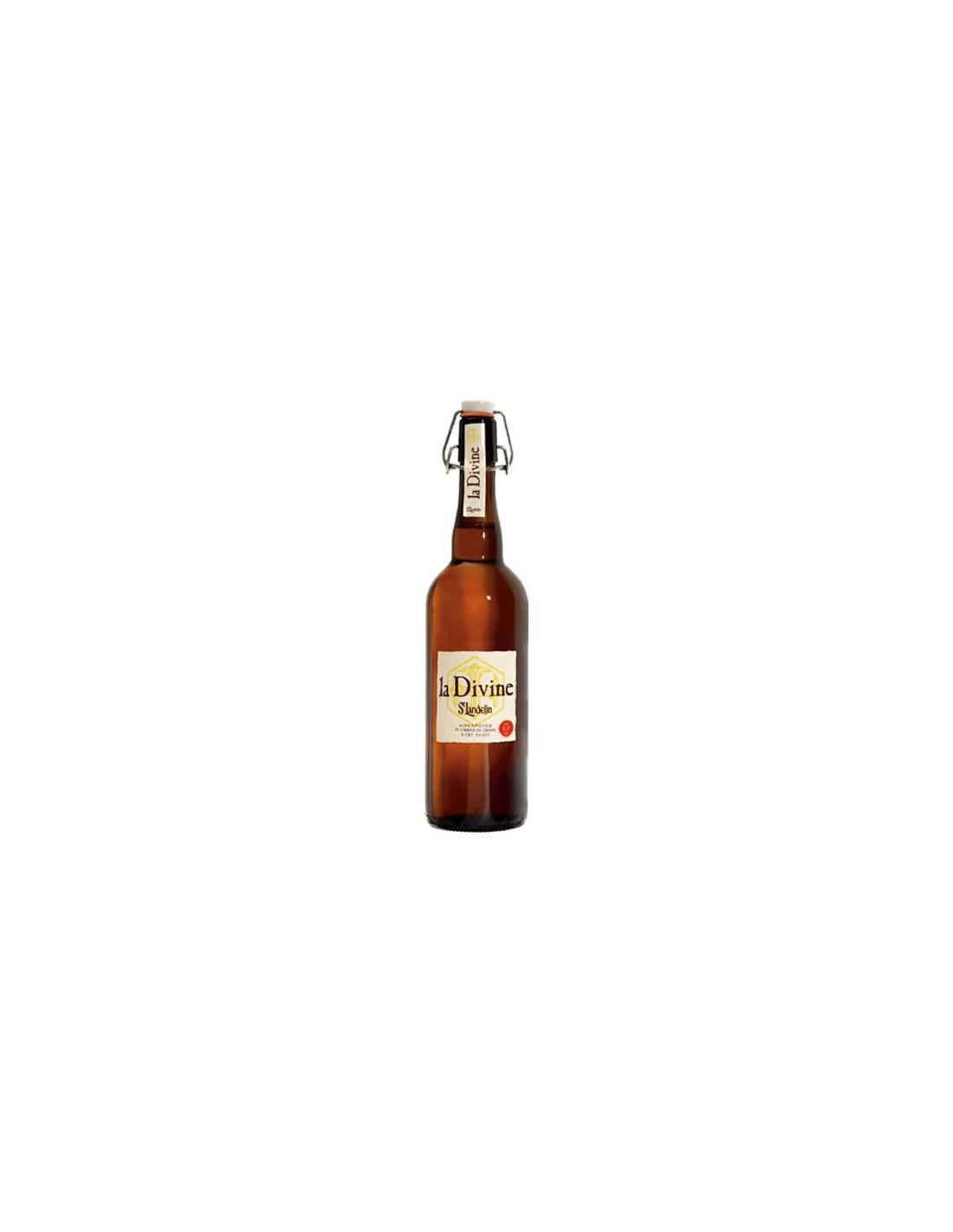 Bere amber La Divine St. Landelin, 8.5% alc., 0.33L, Belgia