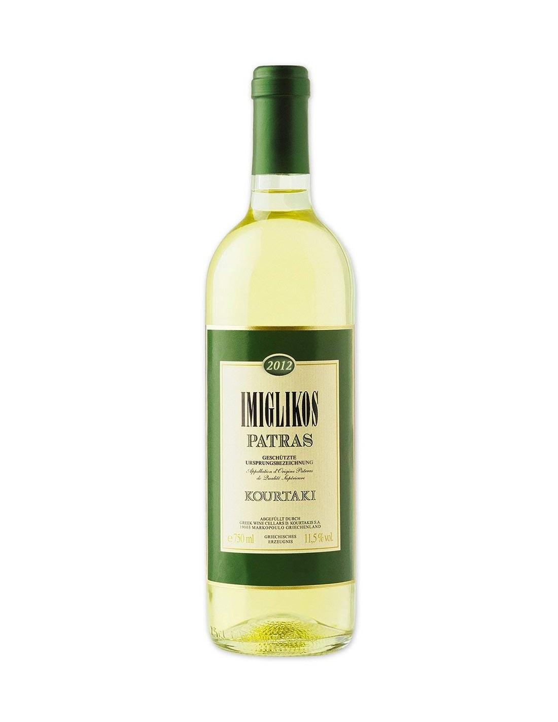 Vin alb, Rhoditis, Imiglikos Patras Peloponnesos, 0.75L, 11.5% alc., Grecia