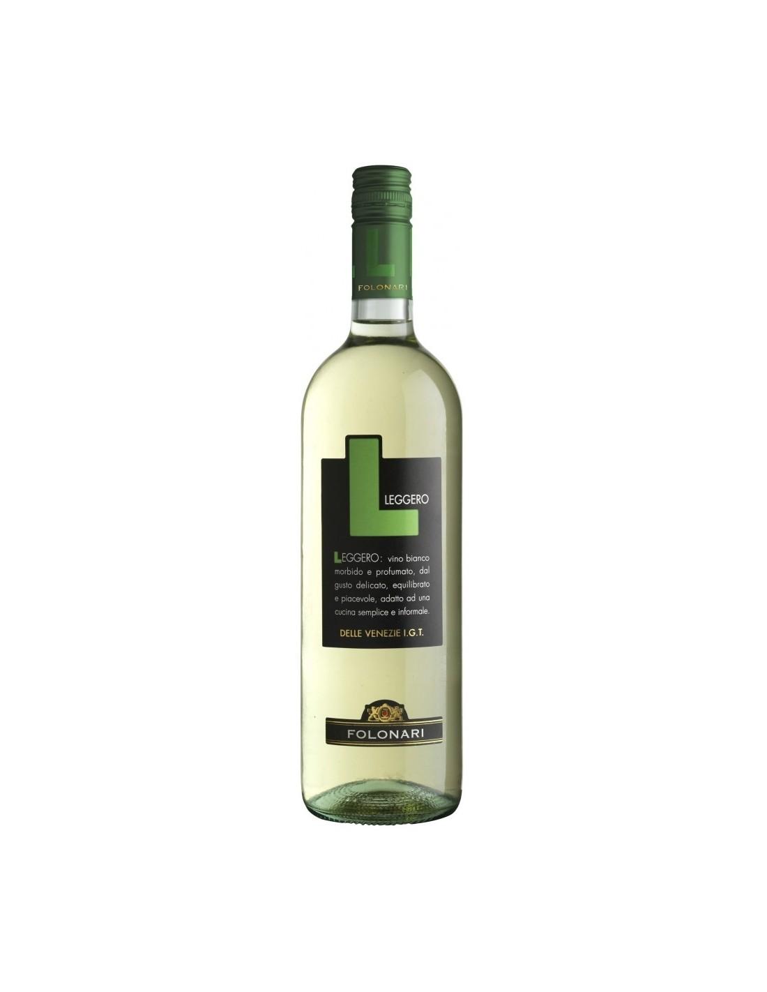 Vin alb, Cupaj, Folonari Leggero Delle Venezie, 0.75L, 11% alc., Italia