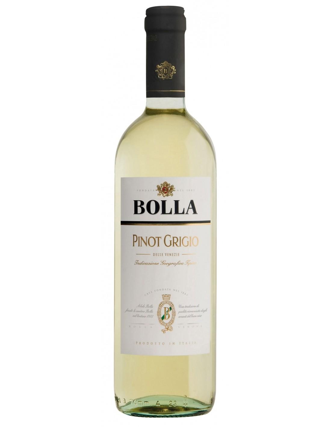 Vin alb, Pinot Grigio, Bolla delle Venezie, 0.75L, 12.5% alc., Italia