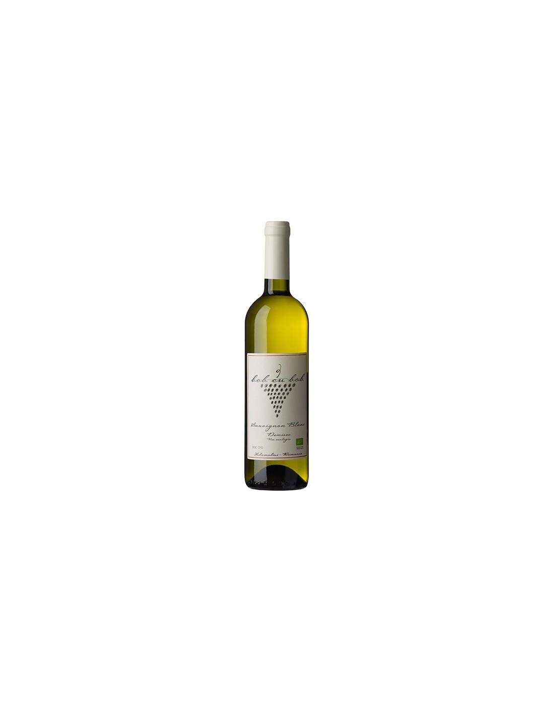 Vin alb demisec, Sauvignon Blanc, Bob cu Bob Adamclisi, 0.75L, 13% alc., Romania