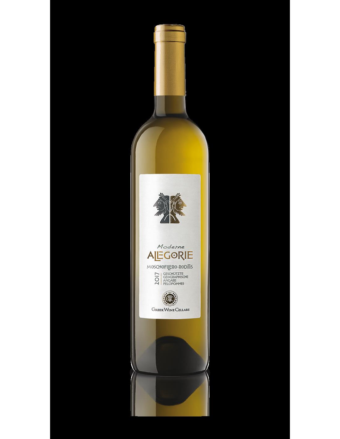 Vin alb sec Allegorie Moschofliero, 12% alc., 0.75L, Grecia