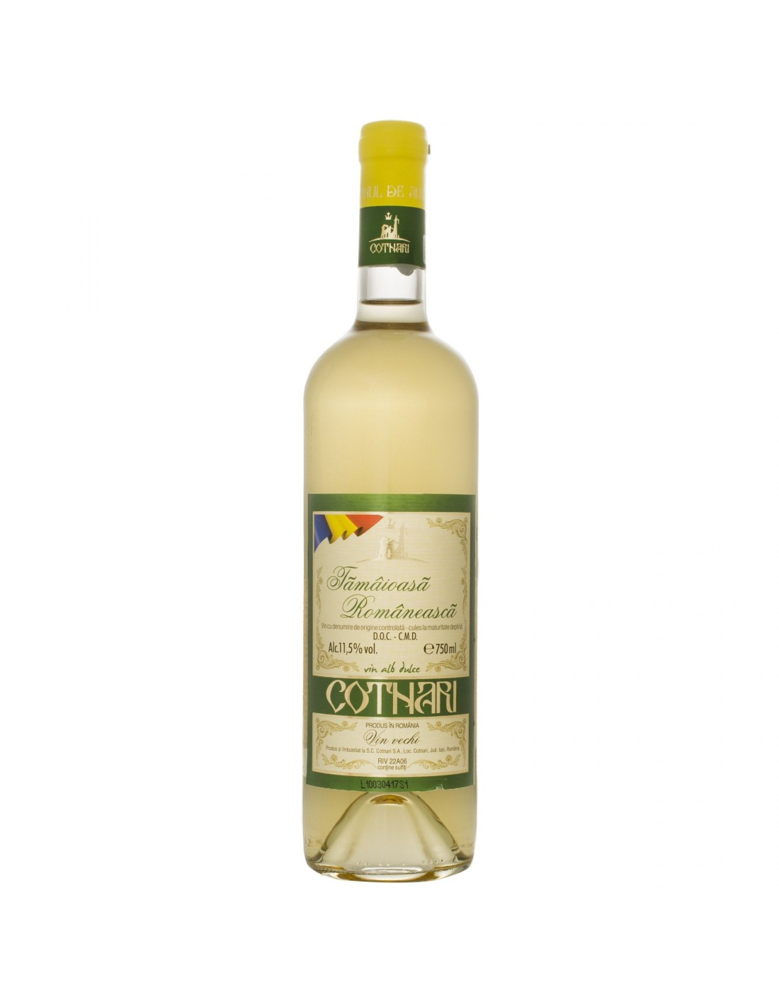 Vin alb dulce, Cotnari Tamaioasa Romaneasca, 0.75L, 11.5% alc., Romania