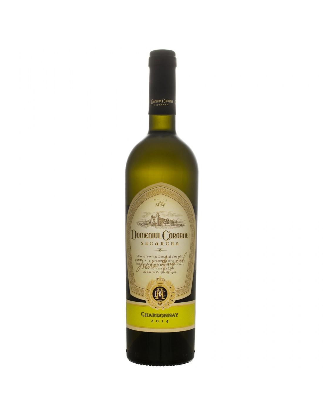Vin alb sec, Chardonnay, Domeniul Coroanei Segarcea, 0.75L, 13% alc., Romania