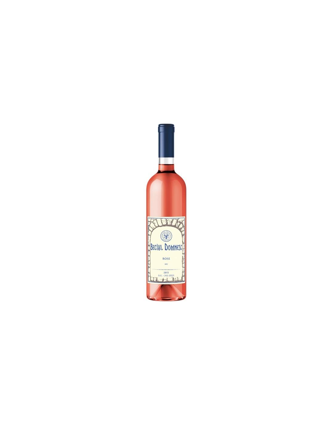 Vin roze sec, Beciul Domnesc Husi, 0.75L, 13% alc., Romania