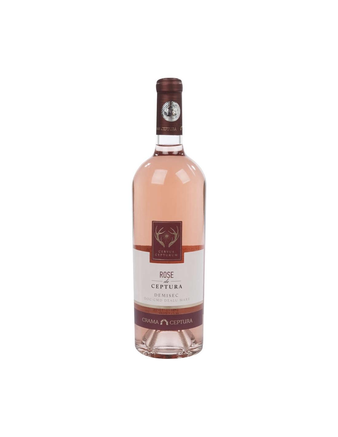 Vin roze demisec, Sauvignon Blanc, Ceptura Dealu Mare, 0.75L, 13% alc., Romania