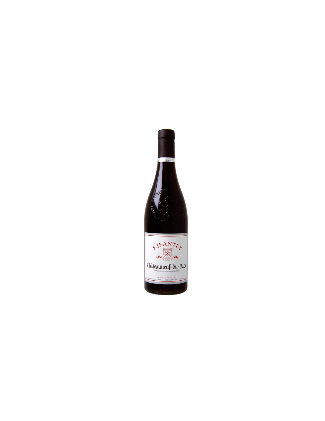 Vin rosu, Cupaj, F. Jeantet Châteauneuf-du-Pape, 0.75L, Franta