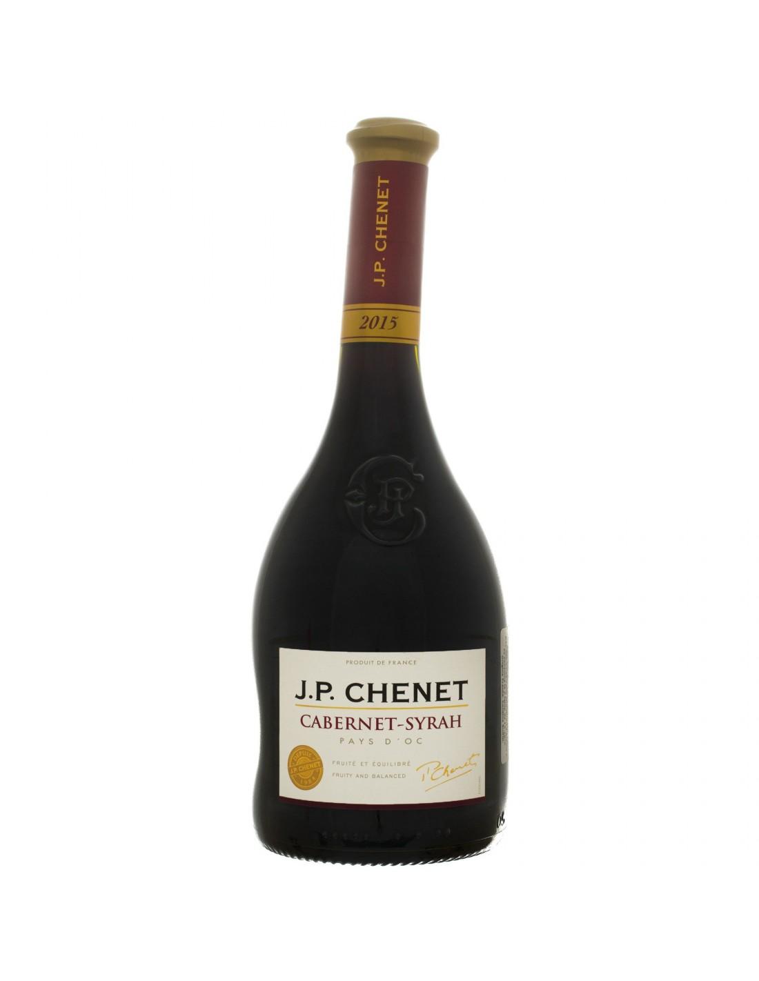 Vin rosu, Cabernet - Syrah, JP Chenet Pays d'Oc, 0.75L, 12.5% alc., Franta