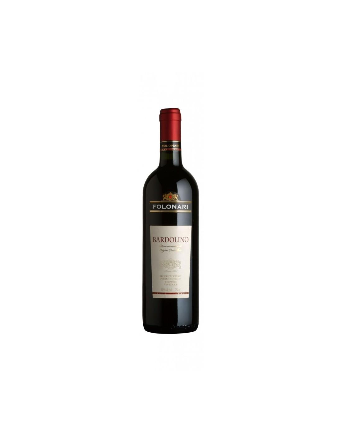 Vin rosu sec Folonari, Bardolino, 12% alc., 0.75L, Italia