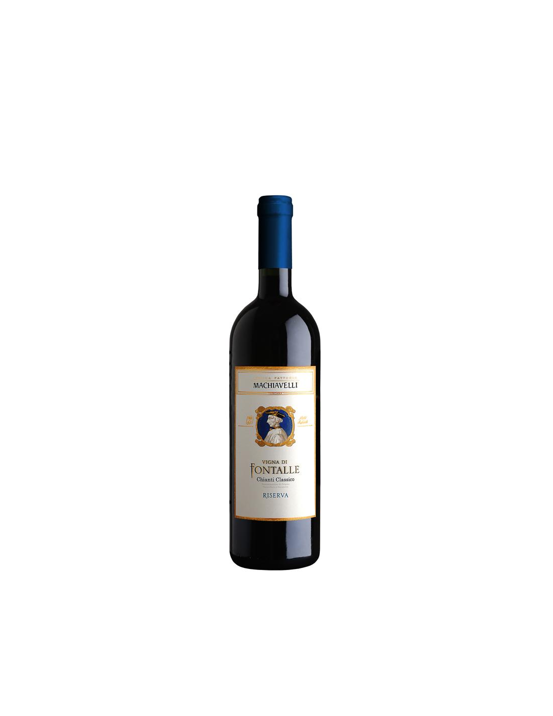 Vin rosu, Sangiovese, Machiavelli Chianti, 0.75L, Italia