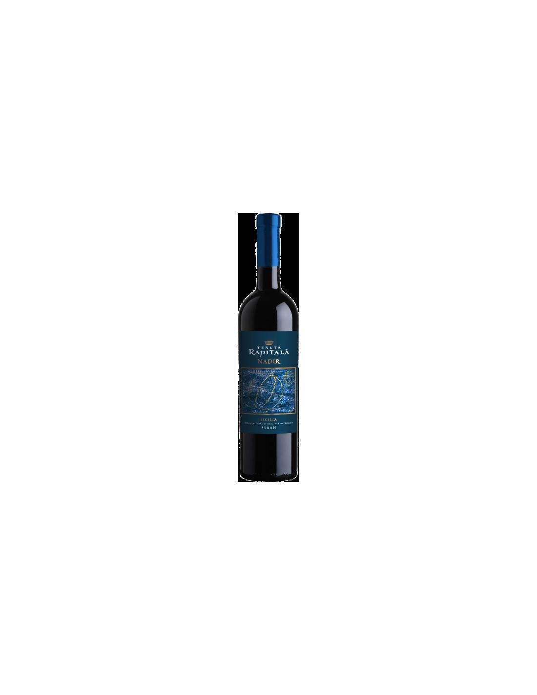 Vin rosu, Syrah, Tenuta Rapitalà Nadir Sicilia, 0.75L, Italia