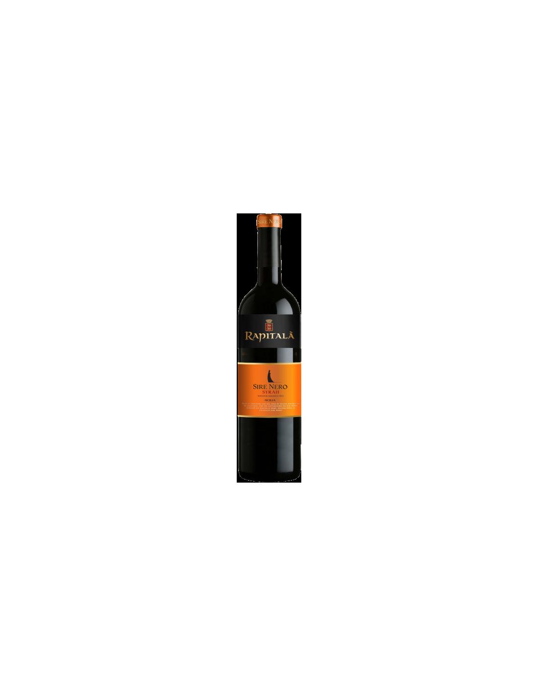 Vin rosu, Syrah, Tenuta Rapitalà Sire Nero Sicilia, 0.75L, Italia