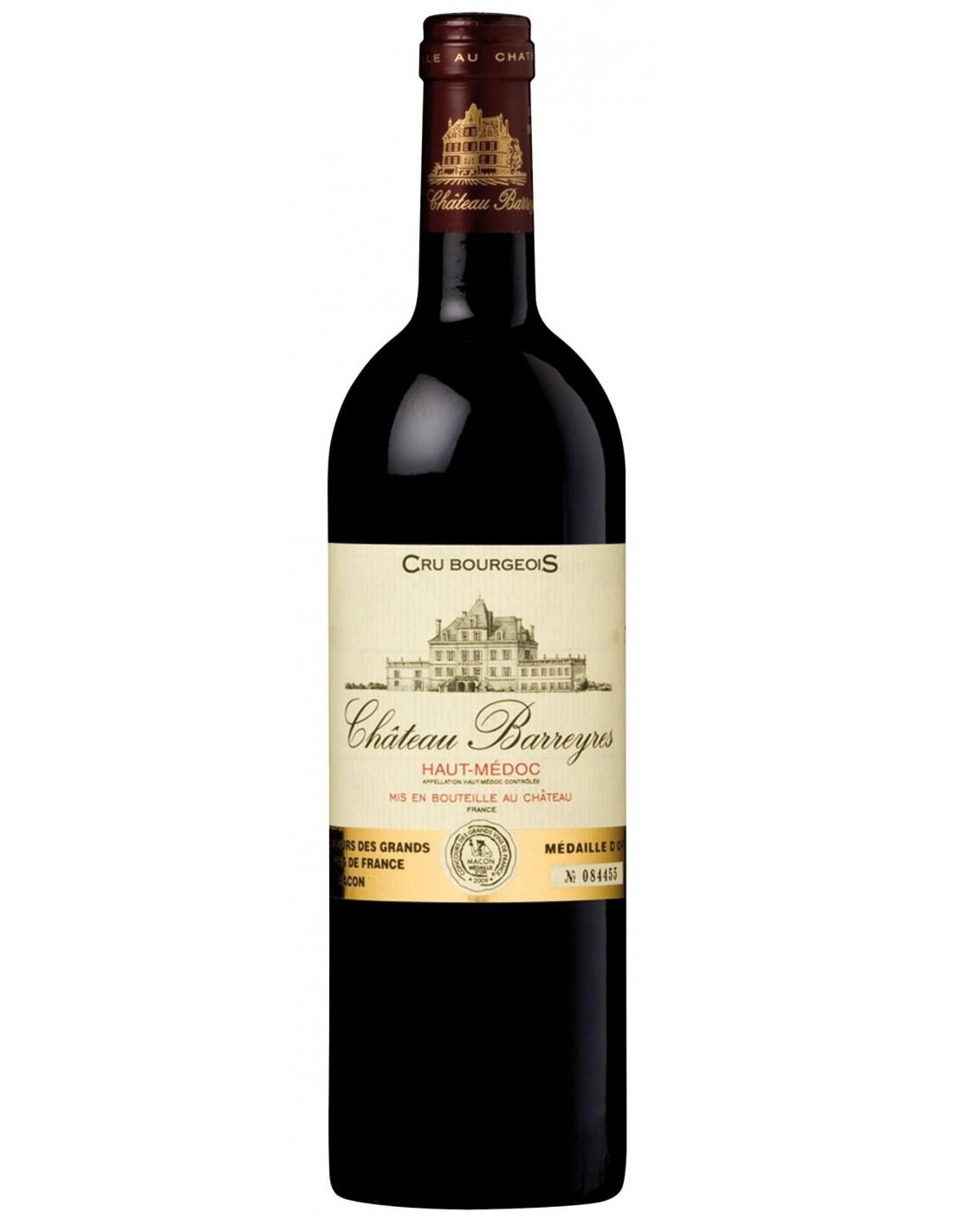 Vin rosu Château Barreyres, Haut-Medoc Bordeaux, 0.75L, Franta