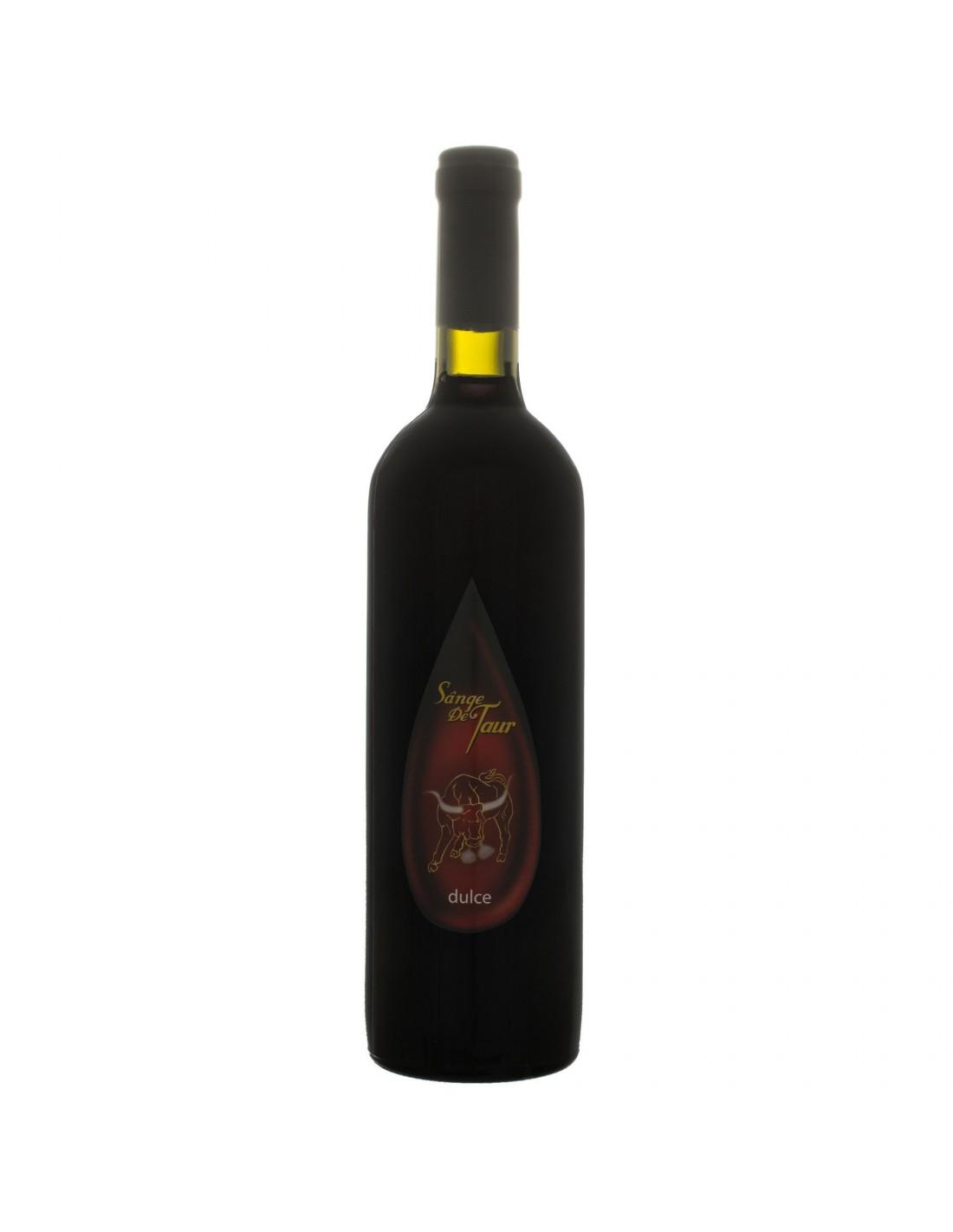 Vin rosu dulce, Sange de taur 7 Coline Tohani, 0.75L, 10.5% alc., Romania