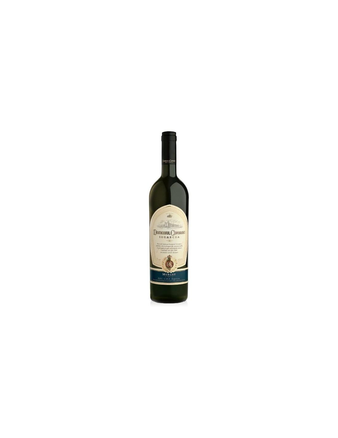 Vin rosu sec, Merlot, Domeniul Coroanei Segarcea, 0.75L, 14.5% alc., Romania