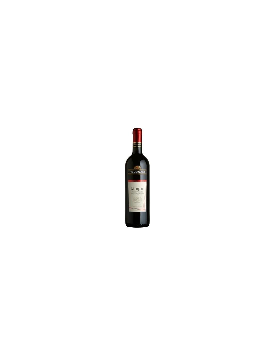 Vin rosu sec, Merlot, Folonari Delle Venezie, 0.75, 12% alc., Italia