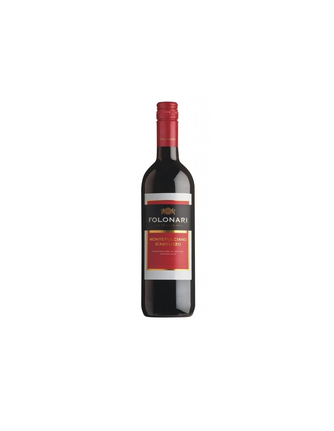 Vin rosu sec, Cupaj, Folonari Montepulciano d'Abruzzo, 0.75L, 12.5% alc., Italia