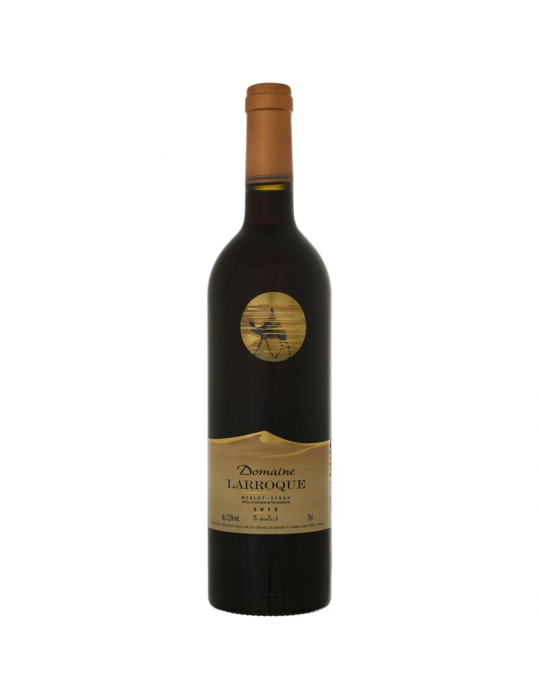Vin rosu, Merlot - Syrah, Domaine Larroque, 0.75L, 13% alc., Maroc