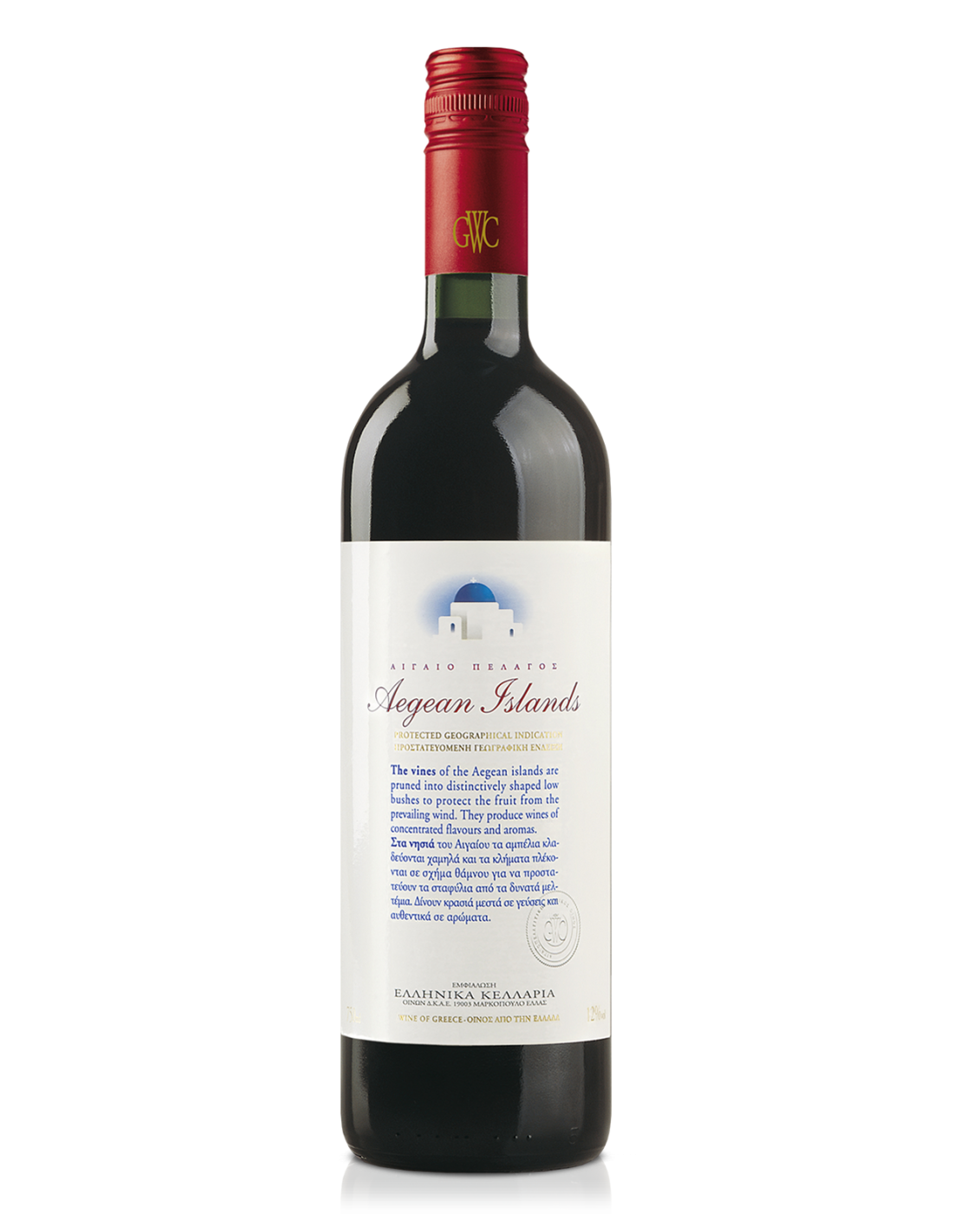 Vin rosu, Mandilaria, Aegean Islands, 0.75L, 14% alc., Grecia