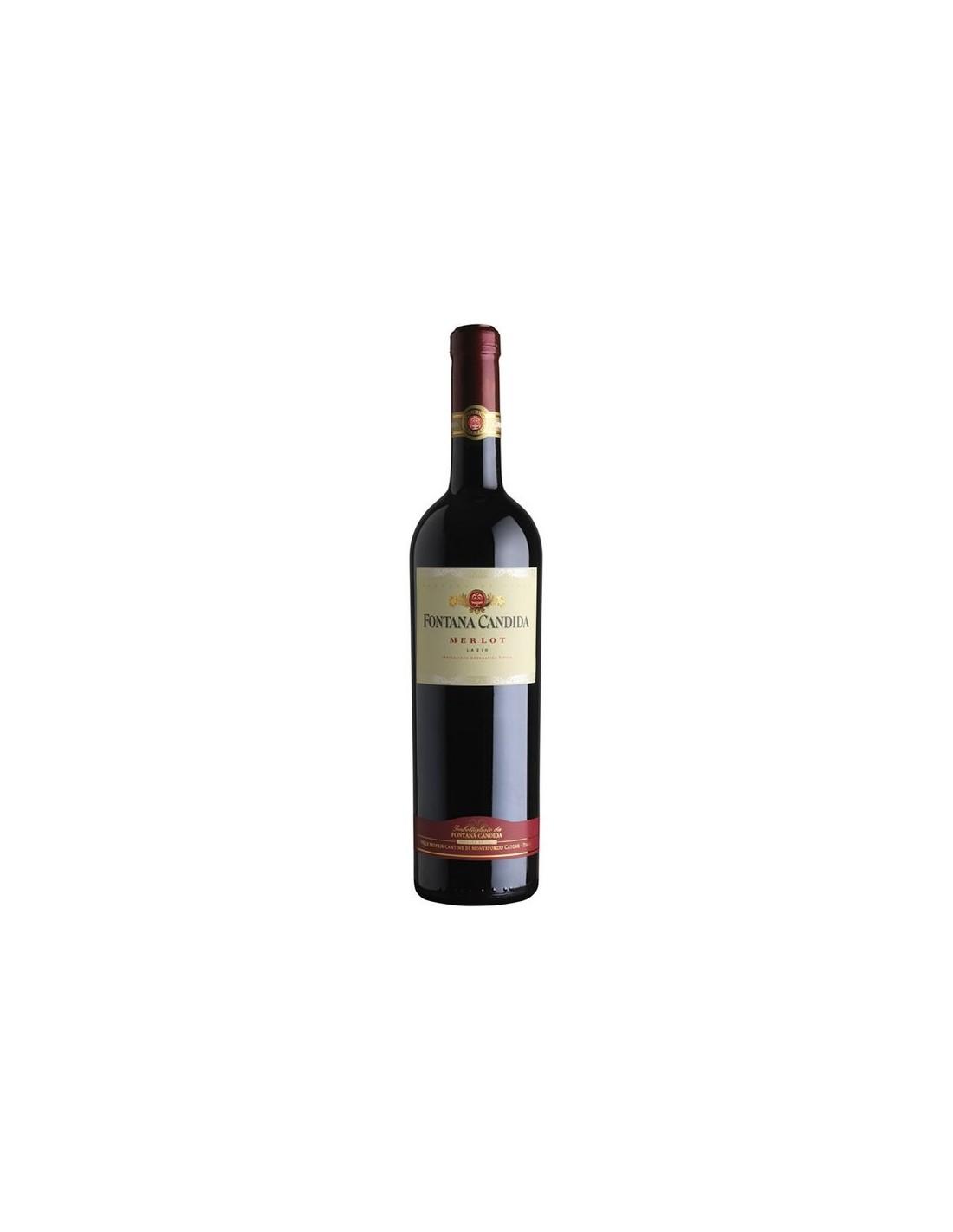Vin rosu sec, Merlot, Fontana Candida Lazio, 0.75L, Italia