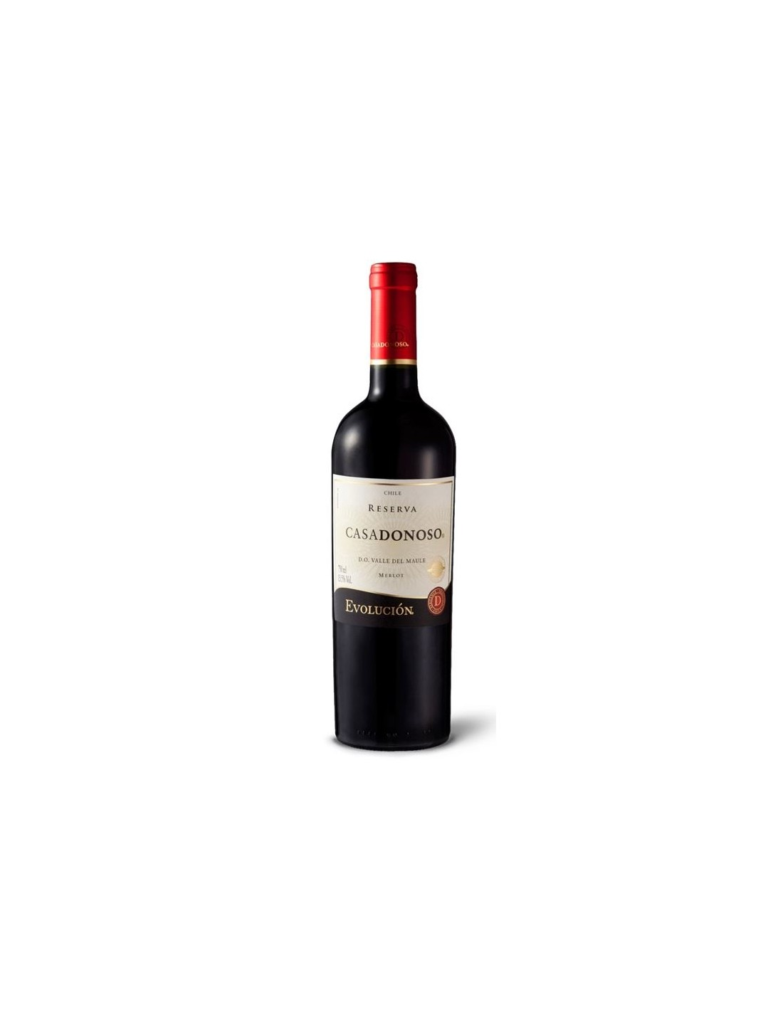 Vin rosu, Merlot, Evolución Valle del Maule, 0.75L, 13% alc., Chile