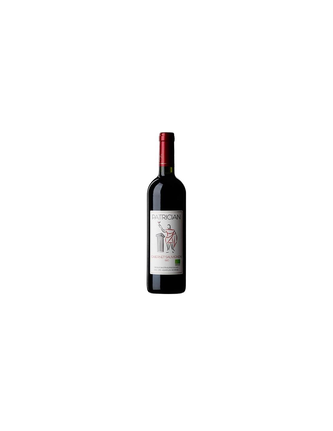 Vin rosu sec, Cabernet Sauvignon, Patrician Adamclisi, 0.75L, 13% alc., Romania