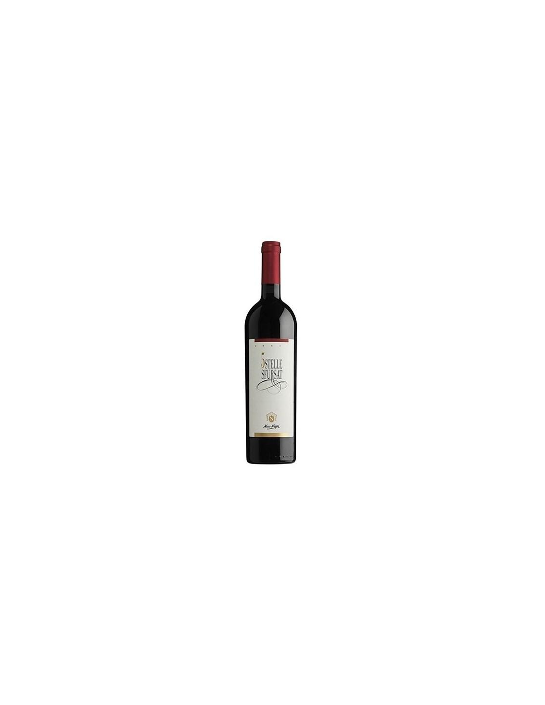 Vin rosu, Nebbiolo, 5 Stelle Sfursat Valtellina, 0.75L, 15.5% alc., Italia