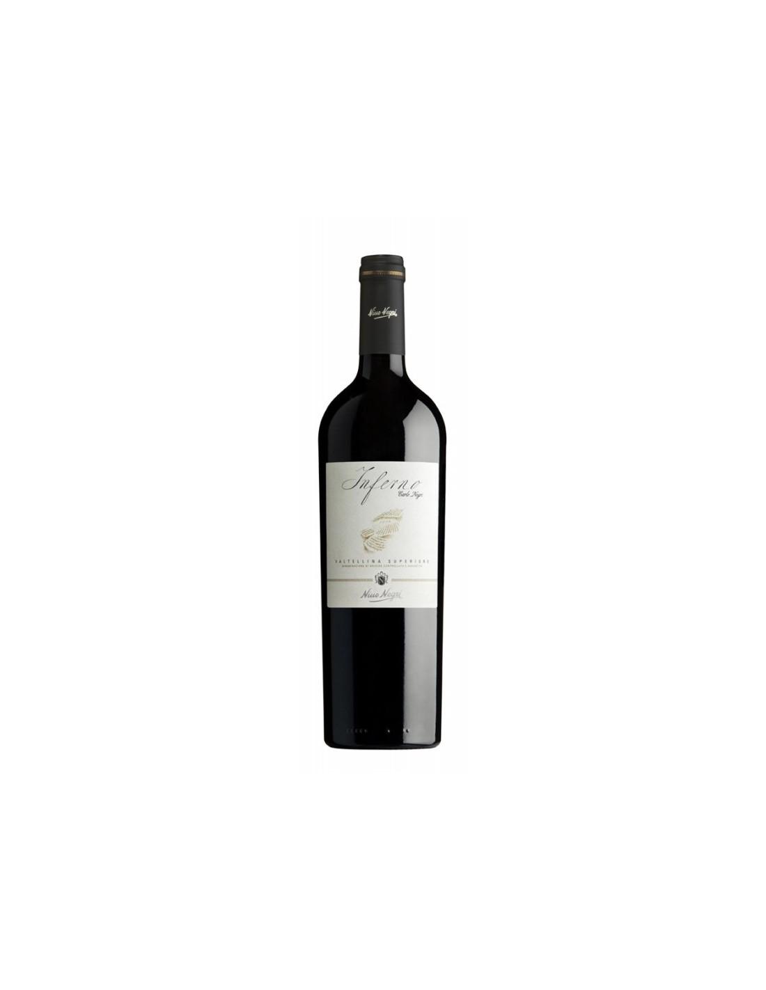 Vin rosu, Nebbiolo, Inferno Valtellina, 0.75L, 13.5% alc., Italia