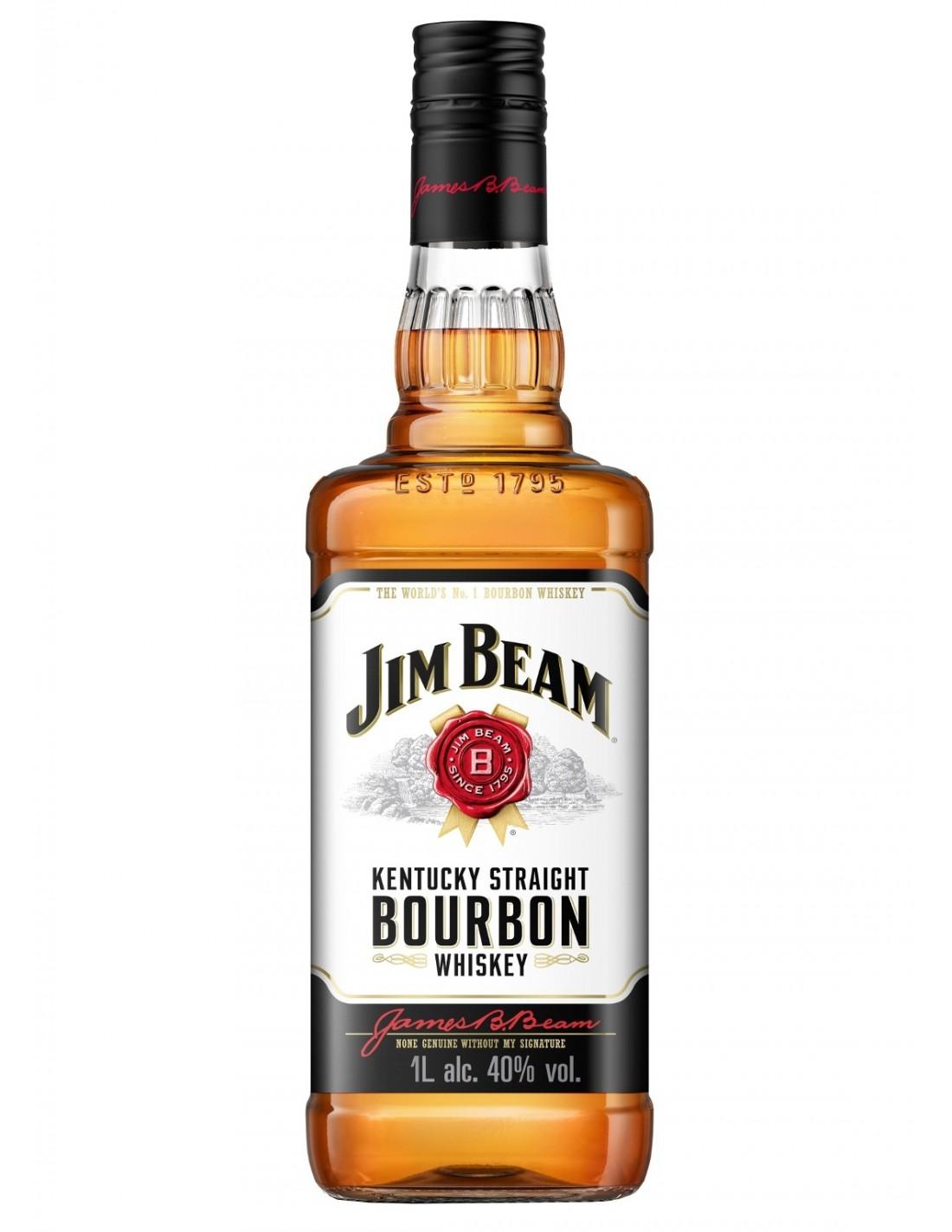 Whisky Bourbon Jim Beam, 40% alc., 1L, America