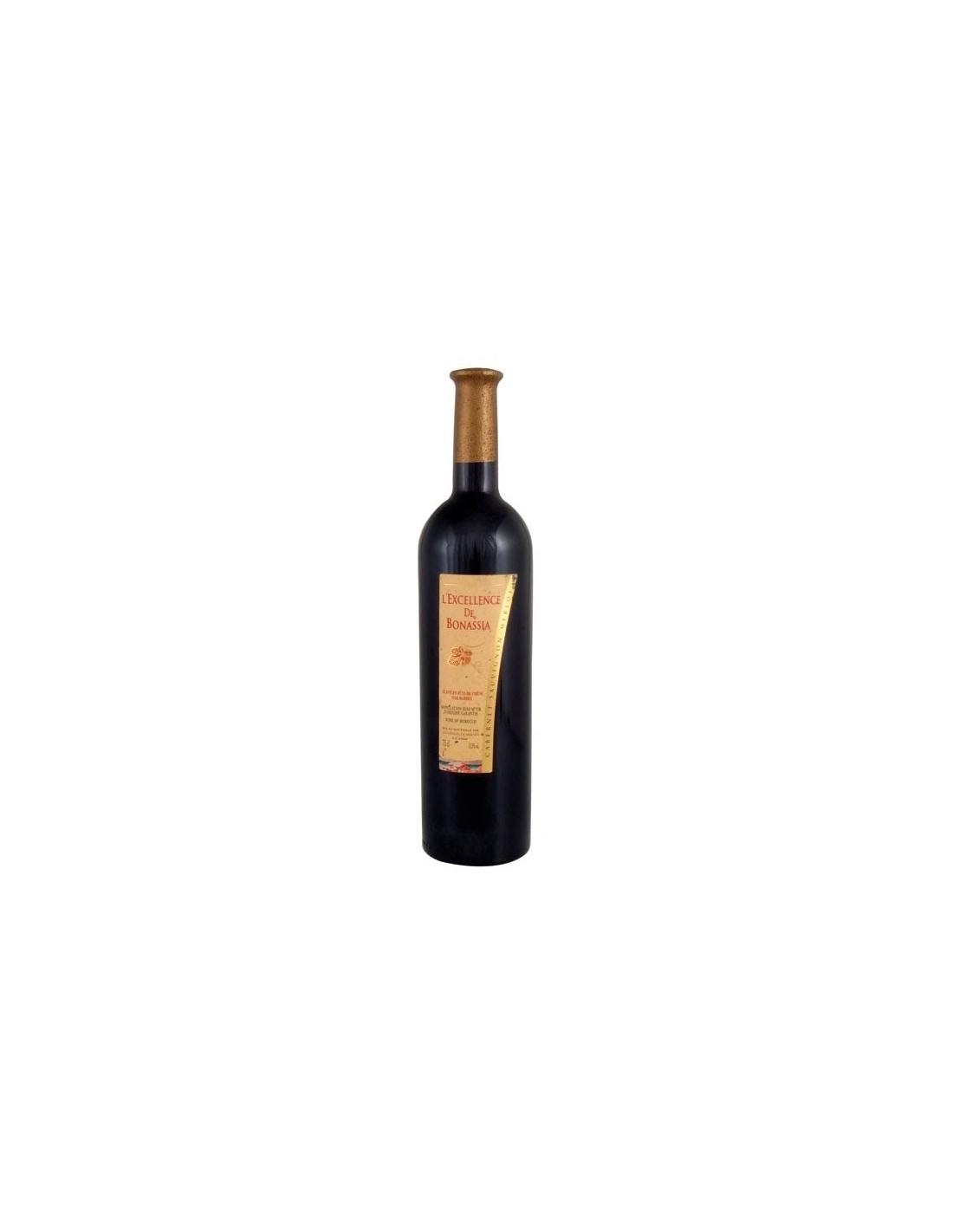 Vin rosu, Cupaj, L'Excellence de Bonassia Meknès, 0.75L, 12% alc., Maroc