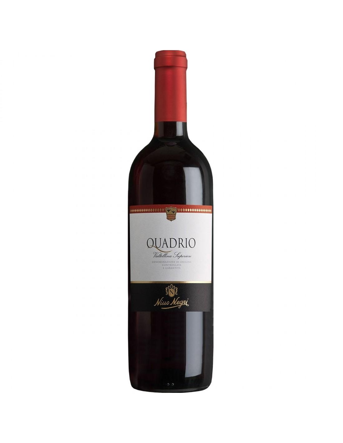 Vin rosu, Cupaj, Quadrio Valtellina, 0.75L, Italia