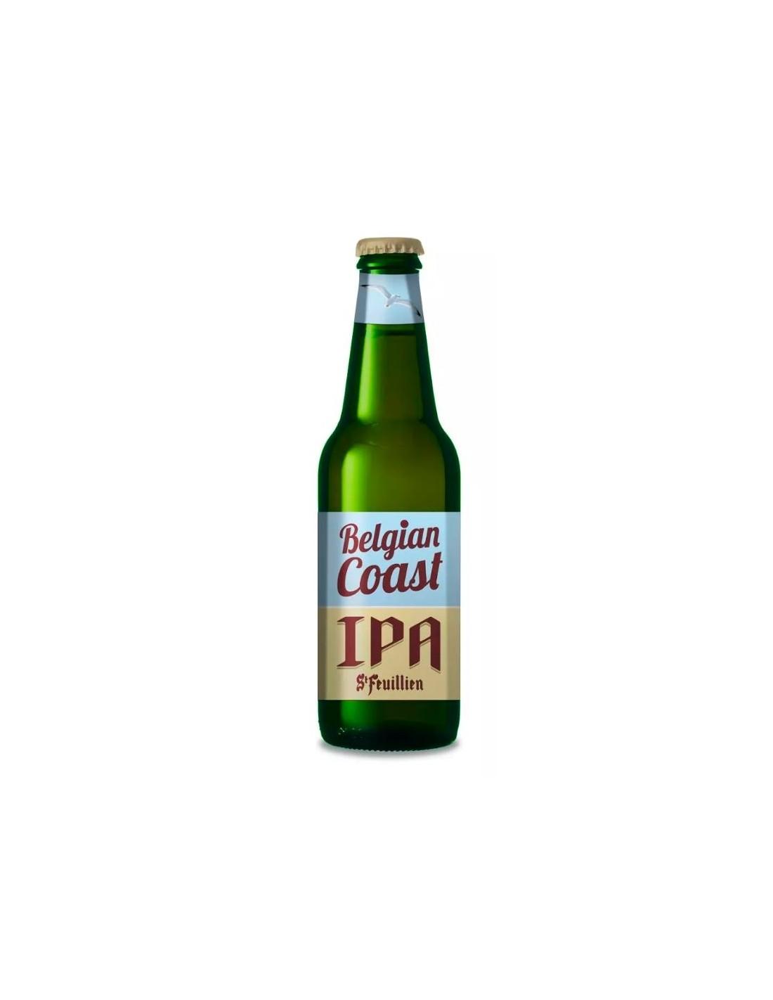 Bere blonda St Feuillien Belgian Coast, 6.5% alc., 0.33L, Belgia