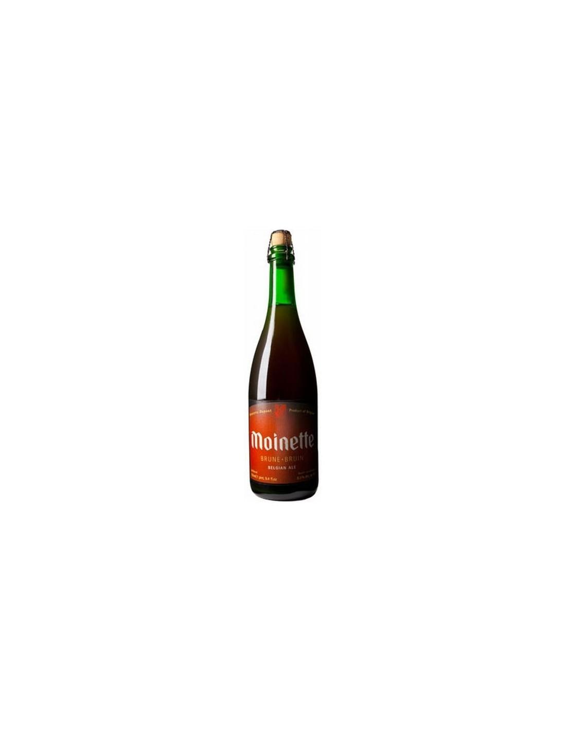 Bere bruna, nefiltrata Moinette, 8.5% alc., 0.33L, Belgia