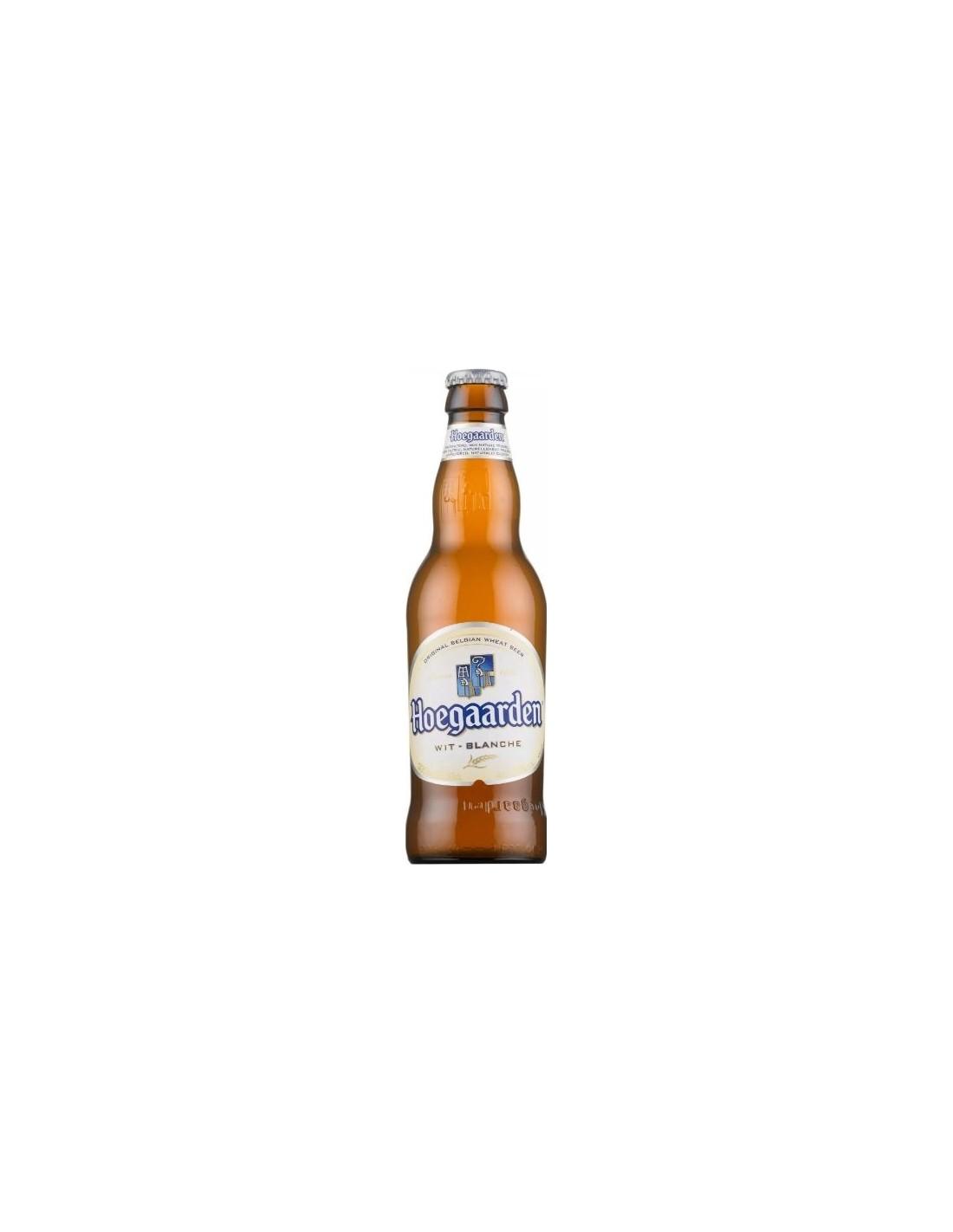 Bere blonda Hoegaarden, 4.9% alc., 0.25L, Belgia